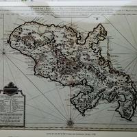 La Martinique : carte éditée au XVIIe, XVIIIe siècle en Allemagne, Angleterre et en Hollande